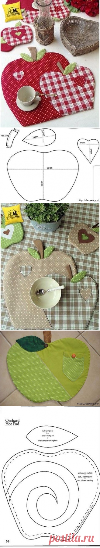 We sew apples for kitchen in style a patchwork