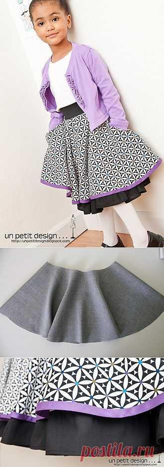 Сшить юбку-солнце с карманами. Подробная инструкция