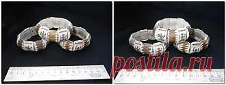 Аксесуары ( браслеты, заколки, кольца и т.п.) - Браслет из рога оленя с саамской символикой 1 шт.