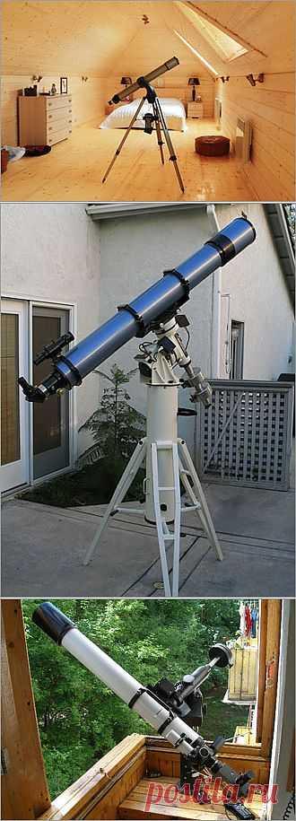 Как оборудовать на даче мини-обсерваторию?  О телескопах и домашних планетариях.