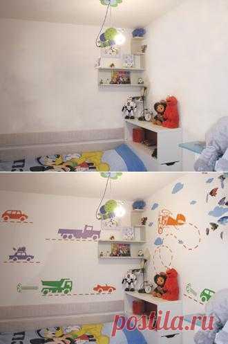 Дизайнерские наклейки и стикеры на стены. Сделать комнату яркой.