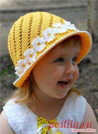 детские вязаные шапки шляпки панамки шарфы схемы описания
