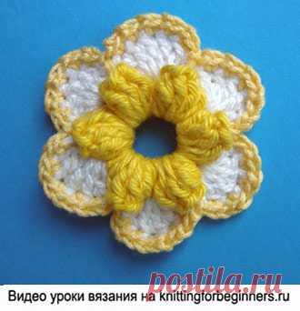 начинаем вязать видео уроки вязания вязаные крючком цветы виде
