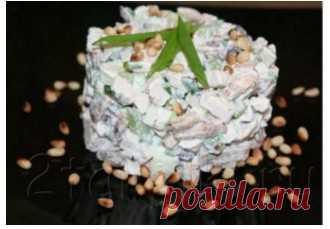 Салат Леон с курицей- пошаговый рецепт с фото и видео | Рецепты салатов