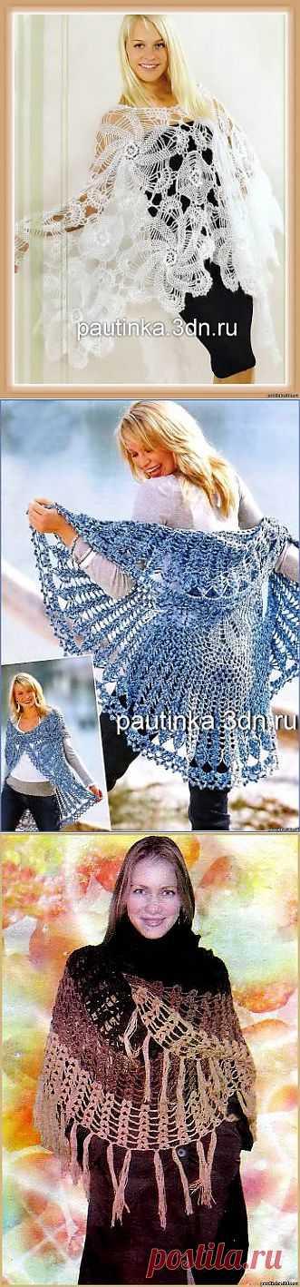 Схемы вязания шали -
