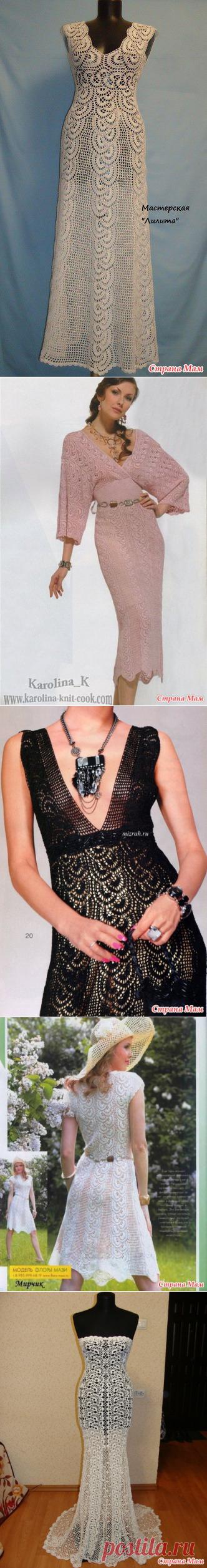 Шикарное платье лентами - Вяжем вместе он-лайн - Страна Мам