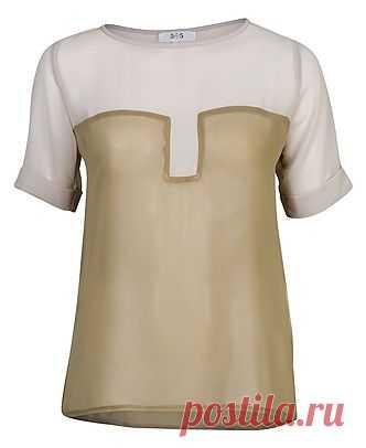 Коллоборация футболки с блузкой / Футболки DIY / ВТОРАЯ УЛИЦА