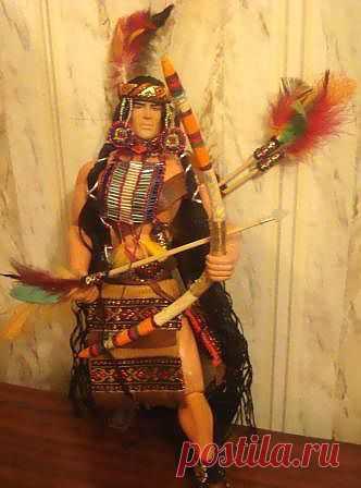Наряд для куклы - индеец-Апач МК