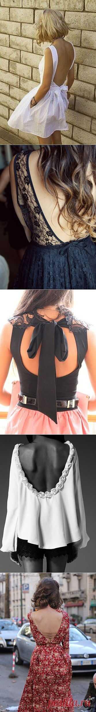 Открытая спина (подборка) / Декор спины / Модный сайт о стильной переделке одежды и интерьера