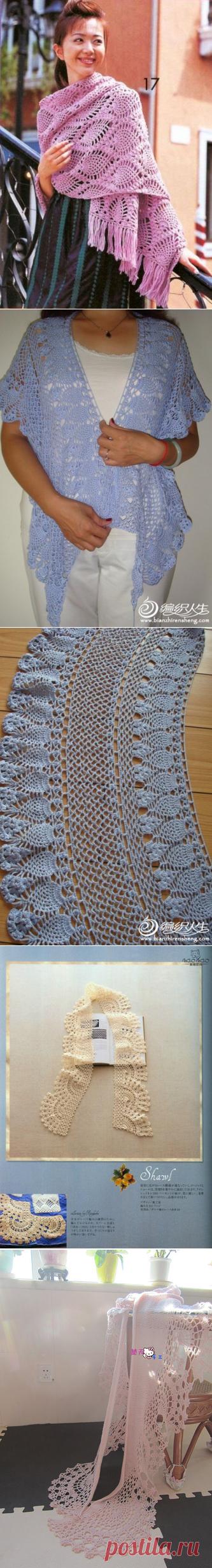 вязание шарфы палантины | Записи в рубрике вязание шарфы палантины | Дневник baba_Lena