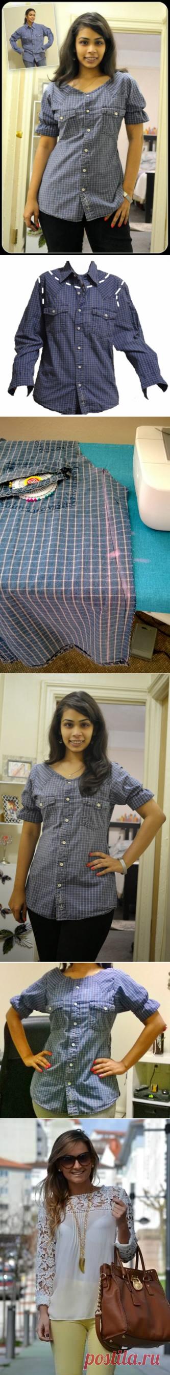Поиск на Постиле: переделки блузок