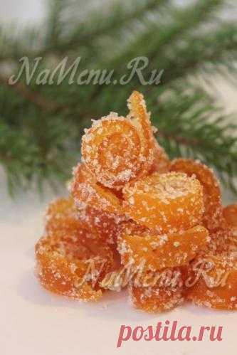 Цукаты из апельсиновых корок. Рецепт при нажатии на фото.