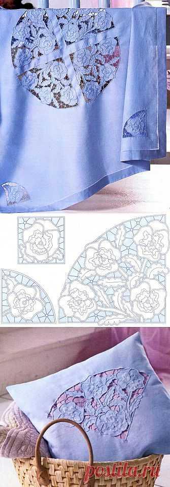 Красивые текстильные детали. Техника изготовления вышивки - вышивка Решелье