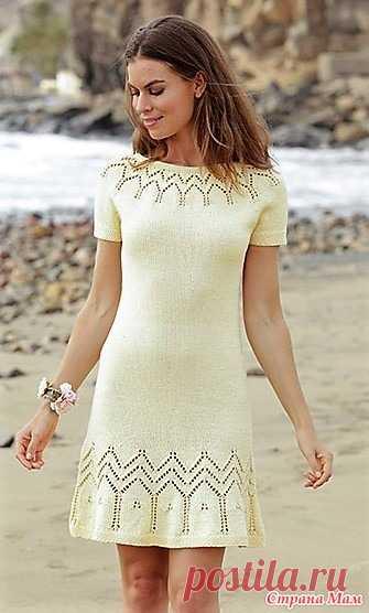 Платье Embrace of the Sun. Спицы. Размеры: S - M - L - XL - XXL - XXXL