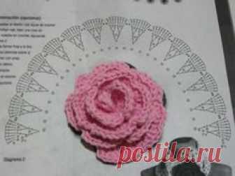 Красивые розы крючком (схемы) - 4 Ноября 2015 - Рукоделие своими руками -