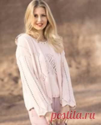Женственный комплект-двойка нежно-розового цвета спицами!