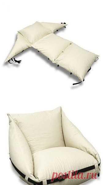 Пляжный коврик и даже мягкое складное кресло: удобно и компактно — Сделай сам, идеи для творчества - DIY Ideas