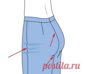 Подправляем жмущие брюки