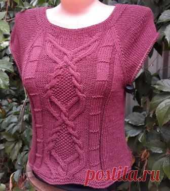 пуловер спицамивязание от светланы заец вязание постила