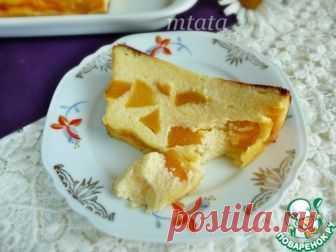 Творожная запеканка с персиками - кулинарный рецепт