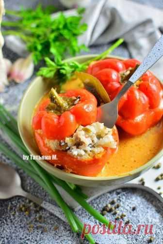 Перец фаршированный рисом и фаршем | Кулинарный блог Татьяны М.