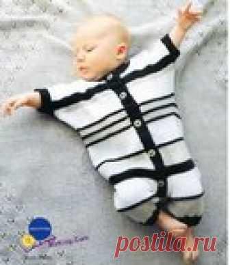 Вязание боди для новорождённых спицами