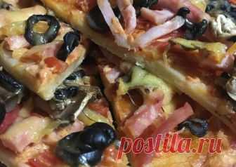 Пицца на тонком тесте Автор рецепта Анна - Cookpad