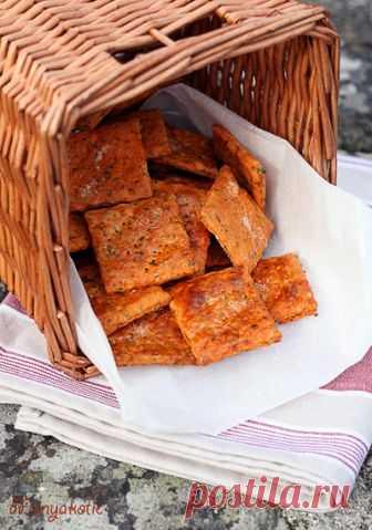 Томатно-базиликовые крекеры