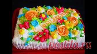 Украшение торта ЦВЕТАМИ Мастер класс по украшению торта НОВОЕ видео на  канале КАЖДЫЙ день ! 456bbb46cfd