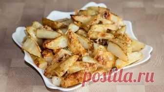 Картофель по-деревенски - проще не бывает     Потрясающе вкусная и простая в приготовлении картошка. Даже удивительно: минимум усилий и в результате отличное блюдо. Я использую розмарин, но вы можете выбирать любую приправу, которая вам нрави…