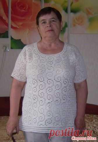 Swirls-top (пуловер крючком Вихри) - Страна Мам