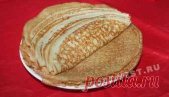 Тонкие блины с дырочками на кефире с кипятком: рецепт с фото