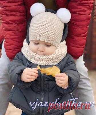 Детская шапочка от bynataliana спицами
