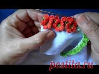 Ленточное кружево РОЗОЧКИ урок вязания крючком Crochet lace tape - YouTube