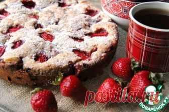 Клубнично-сливочный пирог – кулинарный рецепт