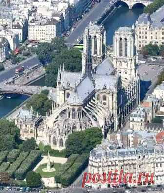 Notre-Dame de Paris, vue d'en haut.