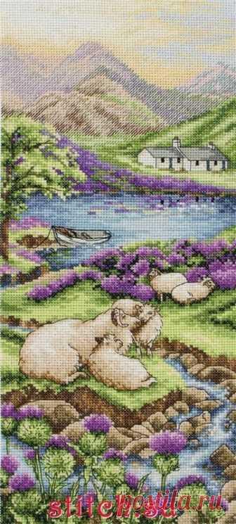 Highlands Landscape. Anchor. Скачать схему вышивки крестиком — Дом крестика
