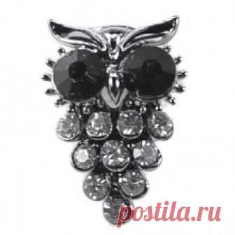Купить брошь сова 351777 бижутерия в Москве