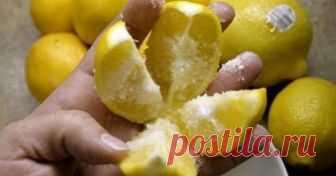 Неожиданно: разрежьте лимон, посыпьте солью и оставьте на ночь на кухне. Результат вас поразит ...
