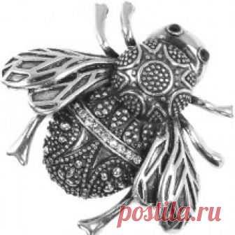 Красивая брошь со стразами арт.1705245 купить в stilnayakoshka.ru