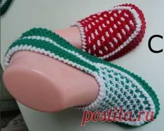 Вязание тапочек крючком и спицами от Зинаиды Скурихиной