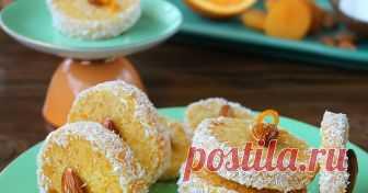 Постни кайсиево – кокосови  десертчета