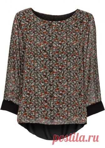 Посмотретьпрямо сейчас:  Модная удобная блузка с цветочным принтом, рукавом 1/2 и перекрещенным дизайном спинки удлиненного покроя.