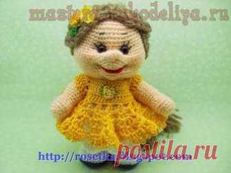 Мастер-класс по вязанию крючком: Куклена с косичкой