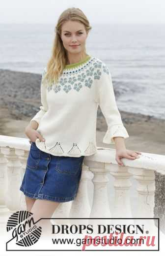 9e9e0da10 Myosotis   DROPS 191-9 - Free knitting patterns by DROPS Design Sweater  with round