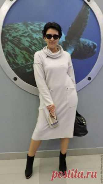 e2d8900638c Платья ручной работы. Платье шерсть жемчужное голубое.. Евгения  (podium-life)