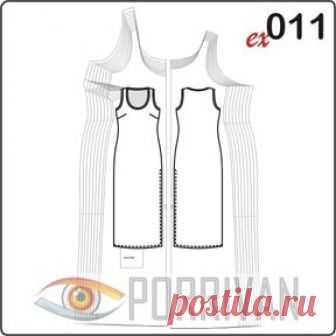 0eef56412ba Выкройка простого платья для полных женщин - Porrivan Ещё одна выкройка  простого платья
