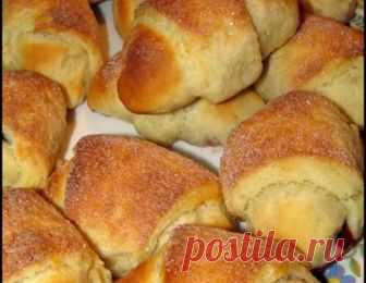 Булочки-рогалики – кулинарный рецепт