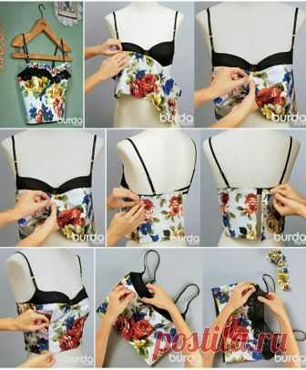 Топ - бюстье наколкой DIY Модная одежда и дизайн интерьера своими руками
