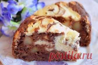 Шикарный пирог с яблоками и творожной начинкой